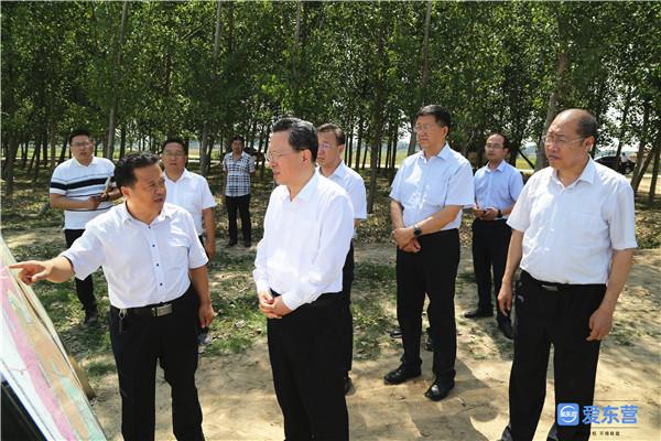 赵志远检查黄河防汛和生态补水工作-新闻中心-东营网